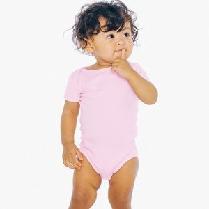 American Apparel pink onesie 3/6 months